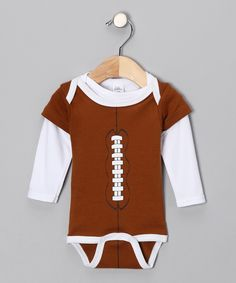 Brown Football Bodysuit & Tee - tis the season.