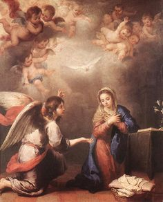 Bartolome Esteban Murillo of Seville, Spain - The Annunciation to Mary, Museo del Prado, Madrid, 1660.Luke 1:26-39
