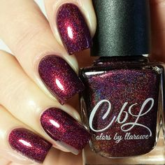 CbL Polish of the Month for November 2015 - Cornucopia is a reddened burgundy intense linear holo with intense sparkle shimmer. Swatch pic by @delishiousnails.