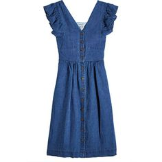 SEA Button-Front Cotton Dress