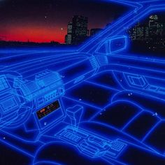All Synthwave retro and retrowave style of arts Blue Aesthetic Dark, Neon Aesthetic, Neon Noir, Arte Cyberpunk, New Wave, Retro Waves, Retro Art, Retro Futurism, Cool Stuff