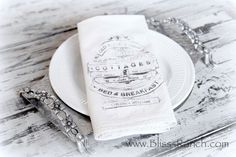 Diy Dinner Napkin Image Transfer Tutorial {with Bliss Ranch!} Citra solv fabric transfer method with Bliss of Bliss Ranch