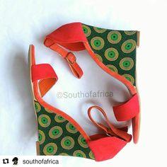 Shweshwe Wedge www.southofafrica.bigcartel.com #african #print #wedges