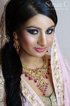 south asian bride, makeup by Sonia C, bridal makeup