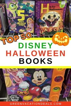 Best Disney Halloween books. Mix of children's bedtimes stories for kids, scary novels themed to Disney villains (Captain Hook, Cruella De Vil, Mother Gothel, etc.), books about Halloween movies (Hocus Pocus, Zombies Halloween Stories, Halloween Books, Disney Halloween, Walt Disney World Vacations, Disney Trips, Scary Novels, Disney World With Toddlers, Disneyland Rides, Great Novels