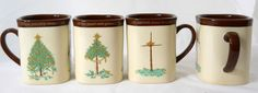 "Dayspring set of 4 mugs truth of Christmas dw micro safe 3 3/4""  #Dayspring"