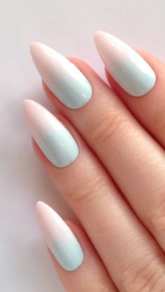 Faded stiletto nails