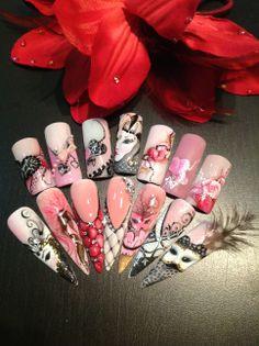 #nails #heart #love #valentine