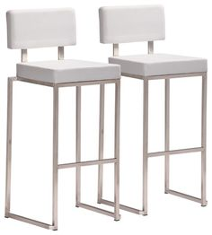 Nice Modern White Bar Stool Set Of 2 Contemporary Stools And Counter