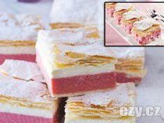 Nejlepší jahodový kremeš.Takový ani v cukrárně nekoupíte ! Czech Recipes, Vanilla Cake, Cheesecake, Sweets, Baking, Desserts, Food, Projects, Basket