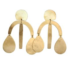 Annie Costello Brown boucles d'oreilles Arc Drop Chandelier