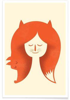Fox Head as Premium Poster by Chris Wharton   JUNIQE