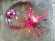 handmade cocoons jewelry - necklace & ring- χειροποίητα κοσμήματα μετάξι κουκούλια - κολιέ και δαχτυλίδι Νο56