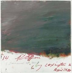 Cy Twombly.