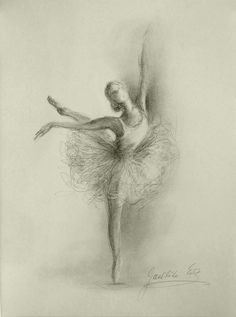 Original unframed pencil drawing by ewa gawlik not a print. ballerina medium: pencil, graphite on cream paper measurements of paper: 11 x 8 inches x 21 cm) Pencil Art, Pencil Drawings, Art Drawings, Dancer Drawing, Painting & Drawing, Illustrations, Illustration Art, Ballet Art, Ballet Dancers