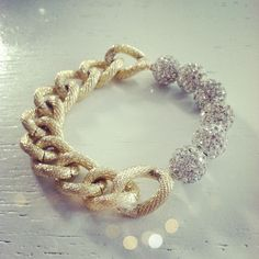 Need this. Need it. Clear pave bead and chain bracelet