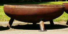 36 Inch Fire Pit with angle legs by Firepitsatlanta on Etsy