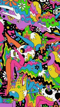 #skulls #iphone #background #iphonewallpaper #colorful