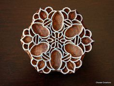 Hand Carved Indian Wood Block Stamp by charancreations on Etsy