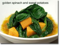 Golden Spinach and Sweet Potato Healthy Sauté