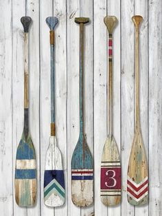 size: Giclee Print: Wildwater Slalom by Mark Chandon : Artists This exceptional art print was made using a sophisticated giclée printing process, which deliver pure, rich color and remarkable detail. Oar Decor, Coastal Decor, Painted Oars, Deco Marine, Fathers Day Cake, Lake Cabins, Nautical Theme, Vintage Nautical Decor, Beach House Decor