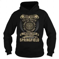 SPRINGFIELD - #mens shirts #sweatshirts for women. GET YOURS => https://www.sunfrog.com/Names/SPRINGFIELD-119122751-Black-Hoodie.html?60505