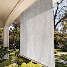 Coolaroo® Outdoor Shade. Save money on air conditioning with these window shades that block UV rays. Also prevents indoor and outdoor furniture from fading.