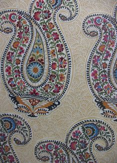 russian paisley, paisley,multi colored,paisley design,wood block print design,giant paisley,