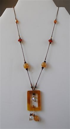 Hand Beaded Illusion Necklace $35.00 by Amelia Costa. Find at copious
