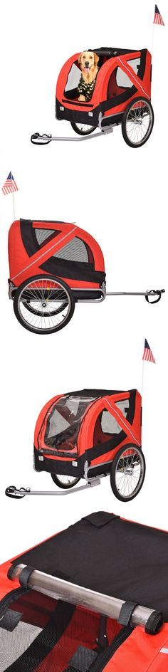 Strollers 116380: Folding Pet Carrier Dog Cat Bike Trailer Bicycle Stroller Jogging W/ Suspension -> BUY IT NOW ONLY: $92.99 on eBay! Dog Trailer, Bike Trailer, Pet Dogs, Dog Cat, Pets, Bike Baskets, Jogging Stroller, Pet Carriers, Four Legged