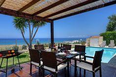 Sea views Villas, Pergola, Outdoor Structures, Sea, Modern, Outdoor Decor, Beautiful, Home Decor, Homemade Home Decor