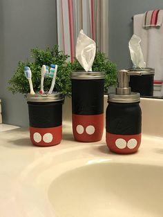 Mickey and Minnie Mouse mason jars