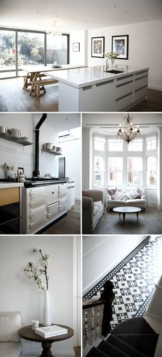 Beautiful - esp the windows and tiled hallway Interior Styling, Interior Decorating, Interior Design, Tiled Hallway, Long Hall, London House, Victorian Homes, Home Projects, Interior Inspiration