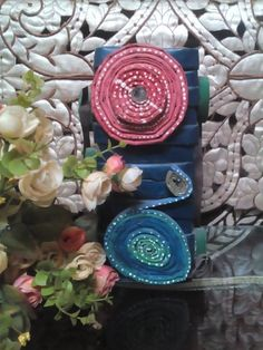Handmade flower pot specially designed with waste paper.
