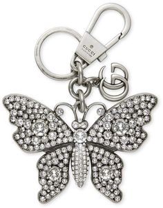 8d400494640 Gucci Metal butterfly with crystals keychain