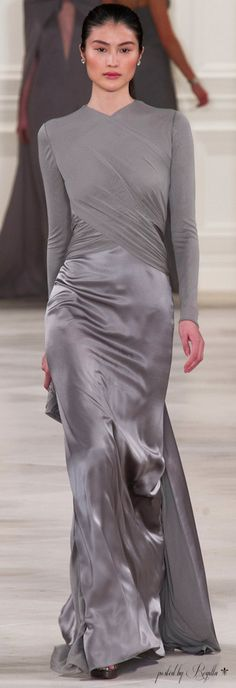Ralph Lauren ~ Evening Gown, Silver Grey