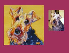 """Cricket"" is a Fox Terrier. This is her Color Dog portrait. www.colordogs.com - #dogs #dogportrait #dogart #colordogs"