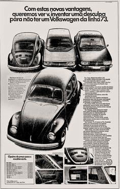 Anúncio linha 73 da Volks - 1972