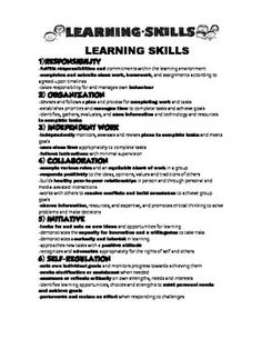 Learning skills ontario responsibility essay