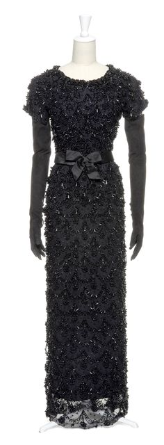 1965 Balenciaga evening dress