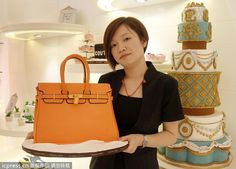 "Oh, this is a ""Hermes"" cake, not bag!"