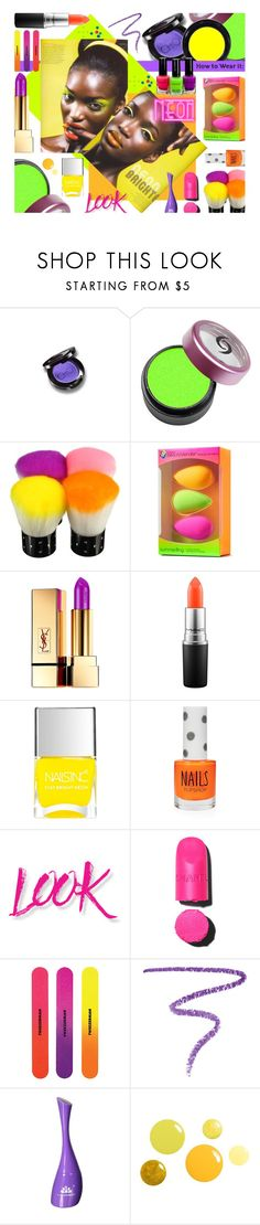 """""""""""She Blinded Him With Science""""........The Science Of Cosmetology 😉👄💅🏾"""" by sharee64 ❤ liked on Polyvore featuring beauty, Christina Choi Cosmetics, beautyblender, Yves Saint Laurent, MAC Cosmetics, Nails Inc., Topshop, NYX and Marc Jacobs"""