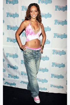 At the Teen People Listening Lounge hosted by Jay Z. See all of Rihanna's best looks.