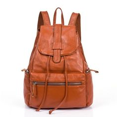 NEW 2016 Brand Fashion Design Genuine Leather Quality Backpack 2 Colors