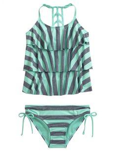 Stripe Tankini Swimsuit | Girls Swimsuits Swim Shop | Shop Justice