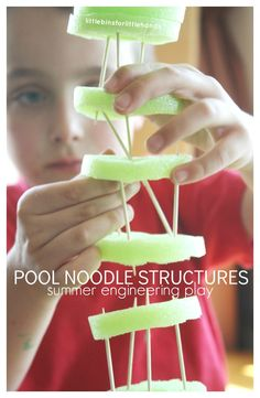 Pool Noodle Structures Building with Toothpicks Summer Engineering