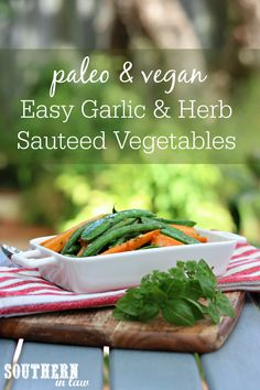 Even fussy eaters will love this veggie side dish! This Quick and Easy Garlic and Herb Sauteed Vegetables Recipe takes just minutes but is packed full of flavour. Sauteed Vegetables, Healthy Vegetables, Chicken And Vegetables, Veggies, Chicken Breast Recipes Healthy, Healthy Dinner Recipes, Paleo Dinner, Healthy Meals, Vegan Recipes