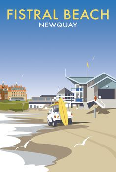Fistral Beach (DT41) Beach and Coastal Print by Dave Thompson http://www.thewhistlefish.com/product/dt41f-fistral-beach-framed-art-print-by-dave-thompson #fistralbeach #newquay