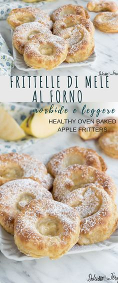 Baked apple fritters with batter, soft, light and light! Simple step by step recipe Healthy Oven Baked Apple Fritters no fry, recipe step by step Fall Recipes, Sweet Recipes, Healthy Recipes, Baked Apple Fritters, Yummy Food, Tasty, Baked Apples, Food Humor, Gelato