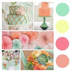 Colour Palette - Peach and Mint | Wedding Blog | WeddingDates.ie